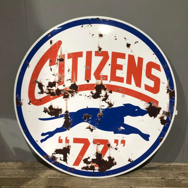 Citizens Gas Oil Large Vintage Style Sign