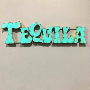 Colourful Tequila Bar Sign