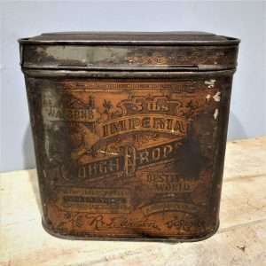 Cough Drop Tin Canister Vintage
