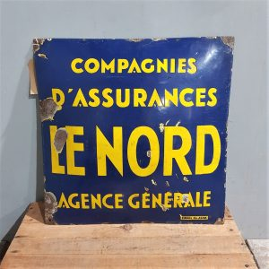 French Enamel Nord Sign