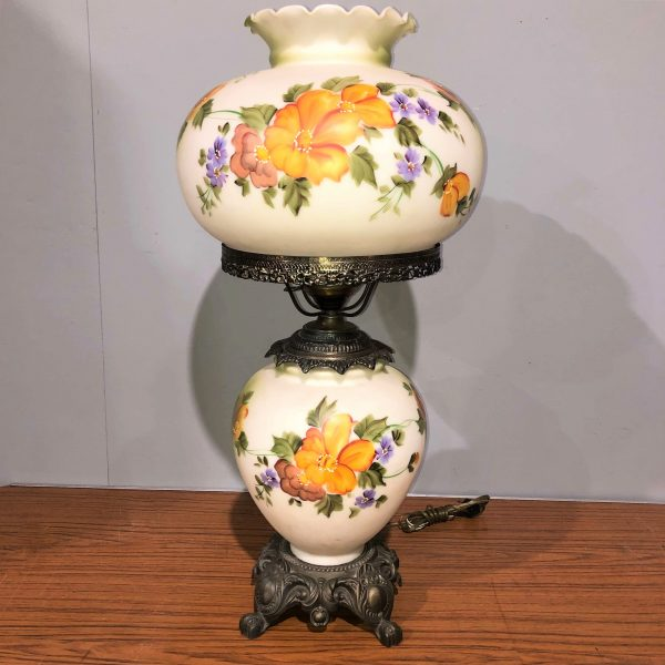 Hand Painted Oil Lamp