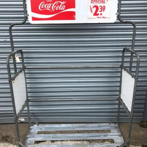 American Grocery Store Coca Cola Display Cart