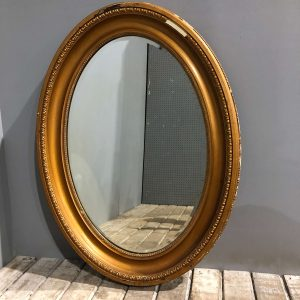 Vintage Oval Gilt Mirror
