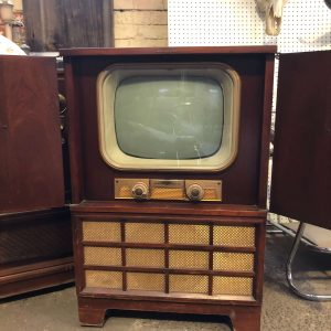 Vintage General Electric Black and White Television