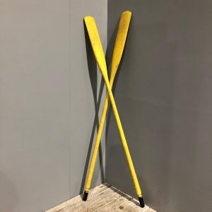 Yellow Painted Vintage Oars