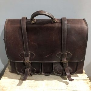 Vintage Leather Satchel Brief Case