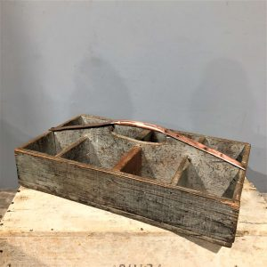Wood & Copper Vintage Tote Box