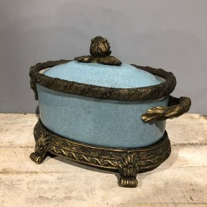Blue Tureen With Gilt Detail