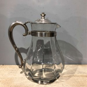 Silver Plate Glass Jug