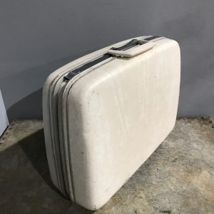 Vintage Cream Samsonite Suitcase