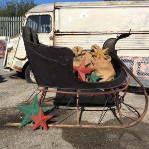 Vintage Horse Drawn Sleigh For Christmas Display