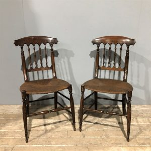 Rush Seat Antique Chairs
