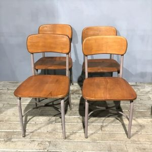 Vintage Mid Century School Chairs