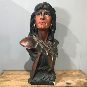 Vintage Native American Tobacco Advertising Bust