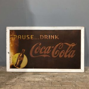 Authentic Coca Cola Panel Sign