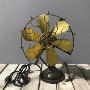 Vintage Westinghouse Brass Table Fan