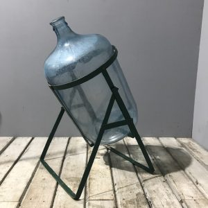 Vintage Water Cooler Bottle and Stand