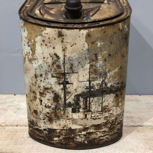 US Navy White Squadron USS Baltimore All Spice Canister