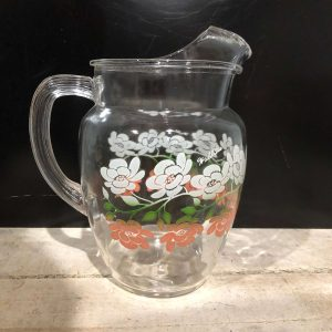 Vintage Glass Lemonade Jug