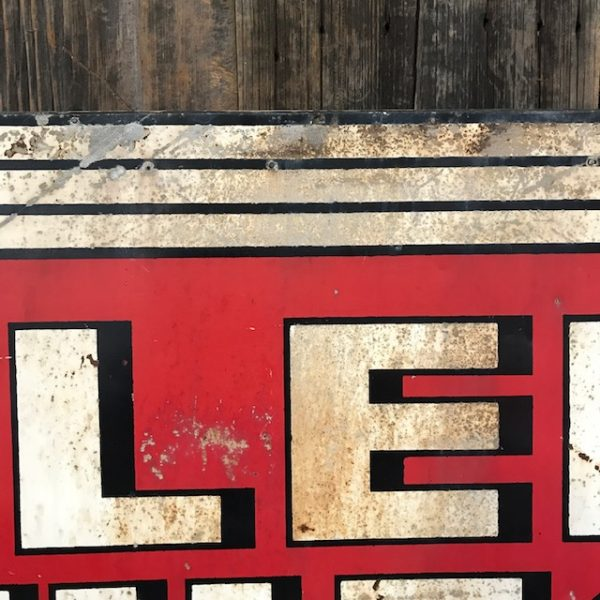 Vintage Enamel Curlee Clothes Advertising Sign
