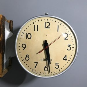 Industrial Vintage Double sided Wall Clock