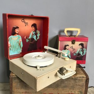 Donny & Marie Record Player With Record Case