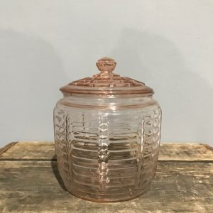 Anchor Hocking Pink Glass Cookie Jar
