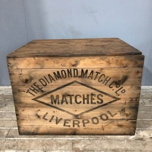 Vintage Diamond Match Shipping Crate