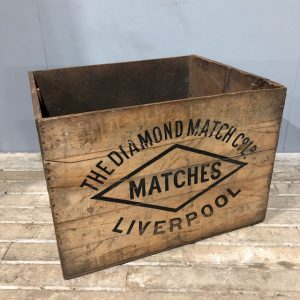 Diamond Match Vintage Shipping Crate