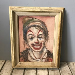 1970's Clown Painting