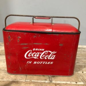 Original Vintage Coca Cola Airline Cooler Box