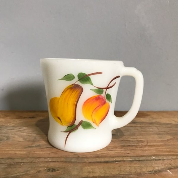 Set Of 6 Fire King Gay Fad Coffee Cups