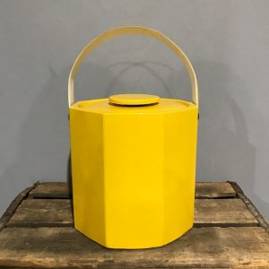 Vintage Yellow Ice Bucket