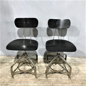 Pair Of Industrial Toledo Style Chairs