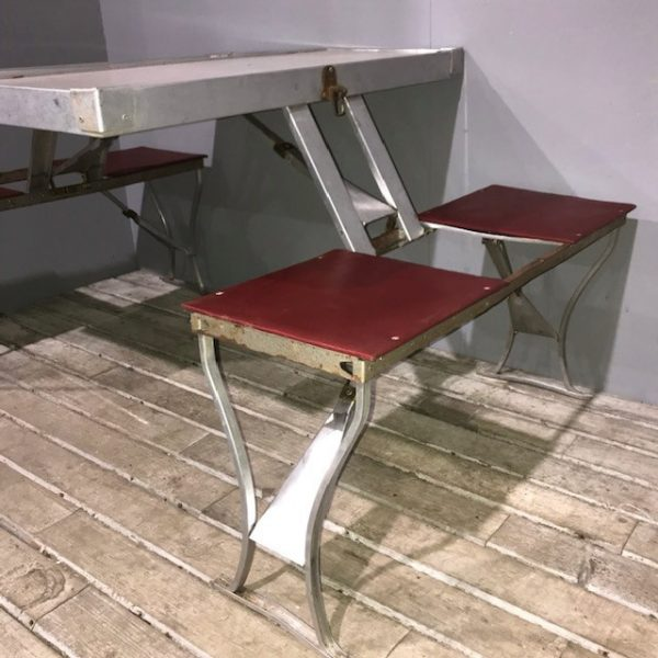 Vintage Mid Century Folding Formica Picnic Table