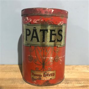 Large Vintage French Advertising Sweet Tin