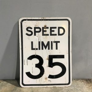American 35Mph Speed Limit Road Sign