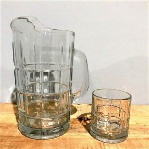 Jug with Matching Tumbler Glasses