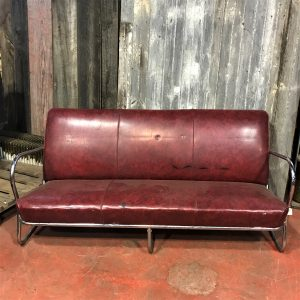 Art Deco Style Tubular Chrome Sofa