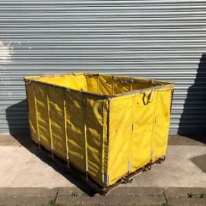 Yellow Industrial Laundry Cart