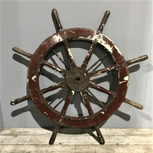Vintage Wooden Ship Wheel