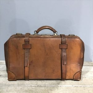 Vintage Pig Skin Travel Bag