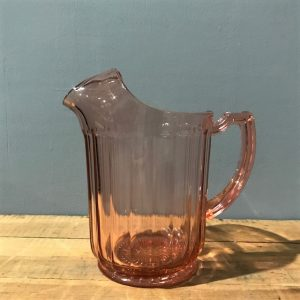 Pink Glass Jug