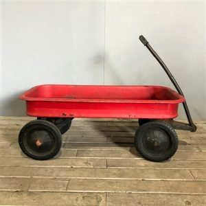 Vintage Radio Flyer in Red