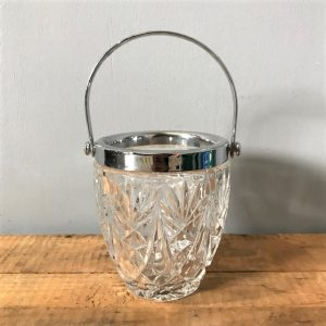 Small Cut Glass Ice Bucket