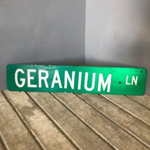 Geranium Lane American Street Sign