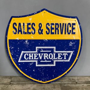 Vintage Style Shield Sign For Chevrolet