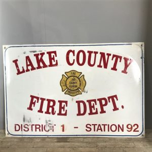 Large Vintage Florida Fire Department Sign