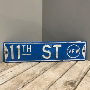 11th Street American Blue Street Sign