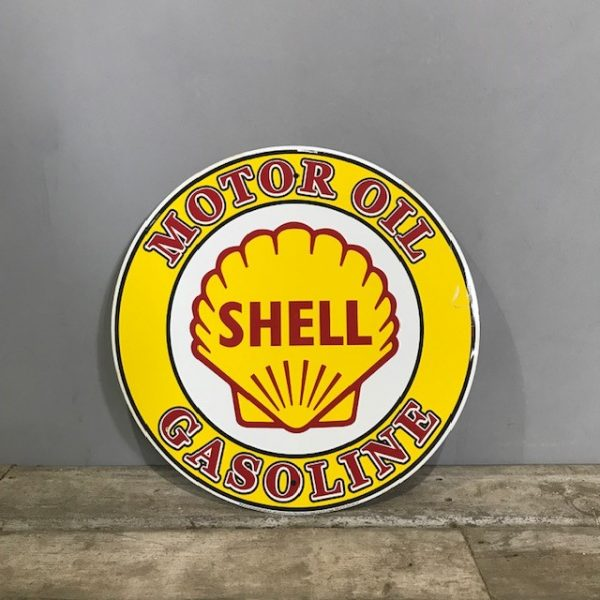 Vintage Style Round Metal Shell Sign